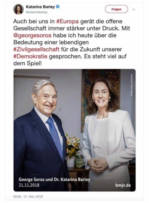 Katharina Barley, Georg Soros